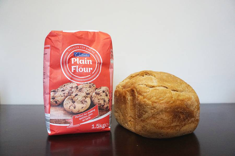 all purpose flour with bread loaf