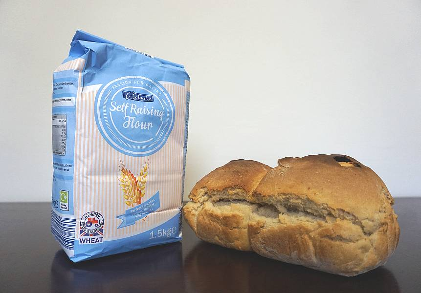 self rising flour with bread loaf