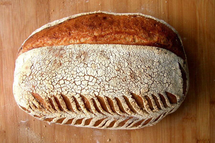 batard decorated with leaf patterns